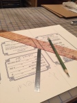 After they are dry comes the not-so-fun measuring and drawing of the mark-up lines for cutting.
